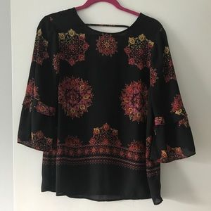 DR2 3/4 Sleeve Top Size Small
